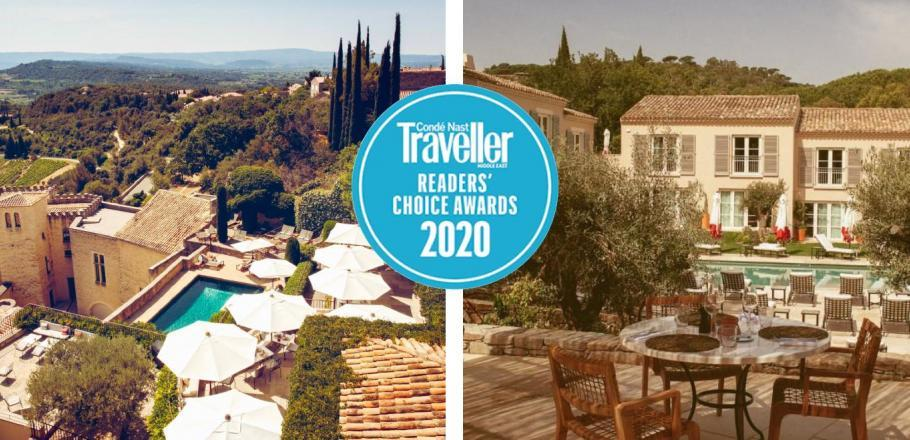 Crillon le Brave et Lou Pinet nominés aux  Condé Nast Traveller Readers' Choice Awards 2020